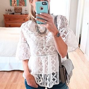 Embroidered top - NWT